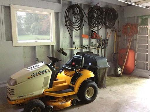 Riding Lawn Mower Storage